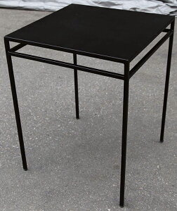 アイアンスクエアテーブル 単品 チーク 木製 アイアン ガーデンテーブル 机 テラス アウトドア おしゃれ モダン