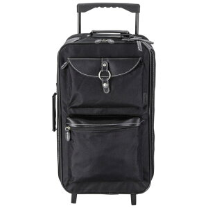 キャリーバッグ ブラック ポリエステル 合成皮革 着脱式ショルダーベルト長さ調節可 キーホルダー付き シンプル 機能性 収納量 収納性 機能的 旅行カバン 旅行バッグ 旅行バック 敬老の日