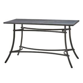 ダイニングテーブル 単品 スチール ダイニング テーブル おしゃれ 机 つくえ 作業台 食卓テーブル 4人用 4人掛け テーブル 幅124cm アンティーク モダン 西海岸 男前 インテリア ブルックリン