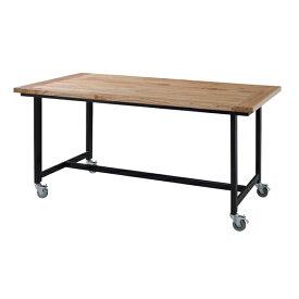 ダイニングテーブル 単品 キャスター付き ダイニング テーブル 天然木 木製 おしゃれ 机 つくえ 作業台 食卓テーブル 4人用 4人掛け テーブル 幅150cm アンティーク モダン 北欧