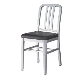 ダイニングチェア レザー アルミ 食卓チェアー 食卓椅子 いす イス 椅子 ダイニングチェアー レトロ モダン 北欧 ブルックリン 西海岸 男前 インテリア おしゃれ アンティーク カントリー かわいい 高級感 ブラック