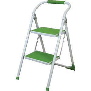 脚立 折りたたみ ステップ台 スツール 踏み台 昇降運動 おしゃれ 2段 折り畳み シンプル 折り畳み踏み台 台 はしご 階段 引越し グリーン