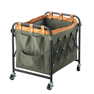 折りたたみ マガジンラック キャスター付き フォールディングバスケットワゴン ランドリーバスケット ランドリーボックス 洗濯かご 収納ボックス おもちゃ箱 大容量 洗濯物入れ 脱衣かご