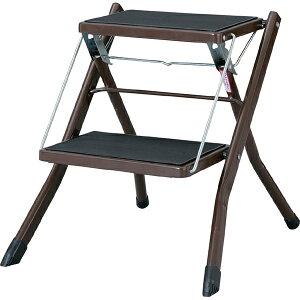 脚立 折りたたみ ステップ台 アシスタステップ スツール 踏み台 昇降運動 おしゃれ 2段 折り畳み シンプル 折り畳み踏み台 台 はしご 階段 引越し ブラウン 敬老の日