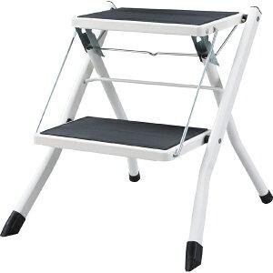 脚立 折りたたみ ステップ台 アシスタステップ スツール 踏み台 昇降運動 おしゃれ 2段 折り畳み シンプル 折り畳み踏み台 台 はしご 階段 引越し ホワイト