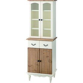 カップボード アンティーク キッチン収納 食器棚 オープン棚 シェルフ カントリー シャビーシック 木製 天然木 キッチンラック おしゃれ