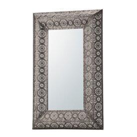 鏡 壁掛け 壁掛 スチール コンパクト ウォールミラー ミラー かがみ カガミ レトロ アンティーク レトロ モダンヨーロピアン おしゃれ シルバー