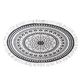 ラグ マット フロアマット 柄 コットン 綿 ラグマット デザイン ラグカーペット 120x70cm 楕円 だ円形 じゅうたん 絨毯 リビングラグ センターラグ シンプル おしゃれ 北欧 高級感