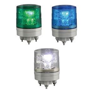 日恵製作所 LED超小型薄型回転灯 ニコミニ・スリム VL04S-024A AC/DC12〜24V Ф45 制御入力有り 緑【代引不可】