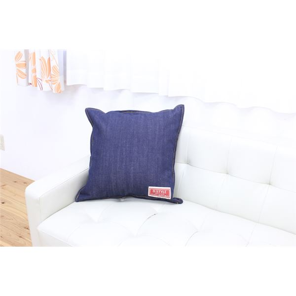 クッション カバー 綿100% 国産 デニム 『レオン』 約45×45cm 2枚組