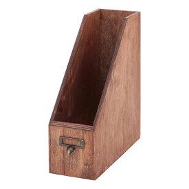 送料無料 4個入り ファイルスタンド レターラック レターケース リオン A4ファイルスタンド 卓上 オフィス デスク スリム 収納家具 収納 ファイルホルダー ファイルボックス シンプル 北欧 かわいい おしゃれ デザイン ダークブラウン