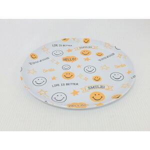 送料無料 6個セット メラミンプレート スマイリー(総柄) 皿 お皿 食器 うつわ さら サラ 器 ランチプレート カフェ ギフト 贈り物 プレゼント おしゃれ かわいい