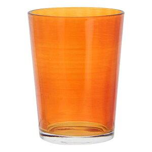 送料無料 6個入り コップ ガラス カラフルグラス M オレンジ ガラスコップ おしゃれ ギフト 結婚祝い 内祝い お祝い 贈り物 プレゼント 誕生日