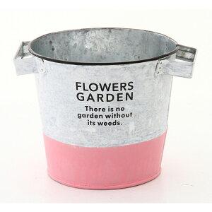 送料無料 6個セット ブリキポットカバー φ14cm プランター 植木鉢 カバー 鉢 鉢カバー バケツ 缶 ガーデニング雑貨 ブリキプランター アンティーク かわいい おしゃれ ピンク