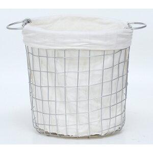 送料無料 4個セット ワイヤーバスケットラウンドS ランドリーバスケット 大容量 洗面所 脱衣かご 北欧 洗濯かご ランドリーボックス おもちゃ箱 小物入れ 収納ボックス スリム シンプル 西