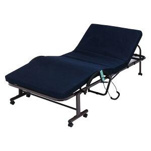折たたみ電動ベッド 高床タイプ 省スペース コンパクト 電動リクライニングベッド リクライニングベッド 介護ベッド 電動ベット 来客用 キャスター付き 折り畳み おりたたみ