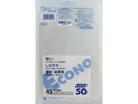 日本サニパック E54エコノプラス45L 半透明 50枚 x1 敬老の日