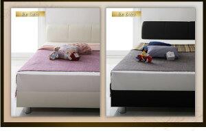 送料無料連結・分割できるベッドフレームマットレス付きワイドK280連結ベッドすのこベッドモダンデザインレザーベッドヴィルヘルムすのこタイプ【ボンネルコイルマットレス:ハード付き】ワイドK280サイズ合皮レザー子供用ベビーベッド夫婦家族ベッド