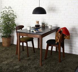 【送料無料】 ダイニングセット 3点セット(テーブル ブラック×ブラウン W115+チェア2脚) カフェ ヴィンテージ ダイニング Mumford マムフォード 木製 食卓 2人掛け ダークグレー グリーン