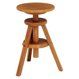 送料無料 回転スツール 高さ調整 高さ調節 回転式 回転昇降式 椅子 木製 おしゃれ いす イス 1人掛け 1人用 コンパクト フラワースタンド 花台 サイドテーブル ソファーサイド ベッドサイドテーブル 北欧 モダン ライトブラウン VH-7960LBR
