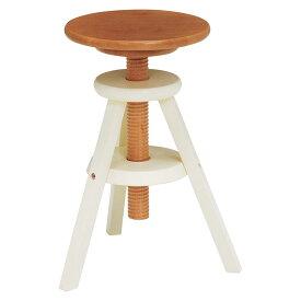 送料無料 回転スツール 高さ調整 高さ調節 回転式 回転昇降式 椅子 木製 おしゃれ いす イス 1人掛け 1人用 コンパクト フラワースタンド 花台 サイドテーブル ソファーサイド ベッドサイドテーブル 北欧 モダン ナチュラルホワイト VH-7960NW