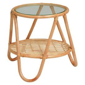 送料無料 籐テーブル ミニテーブル サイドテーブル 木製 テーブル センターテーブル ローテーブル ソファーサイド ベッドサイドテーブル ガラステーブル 机 つくえ 花台 フラワースタンド シンプル 寝室 おしゃれ ナチュラル RT-1079NA