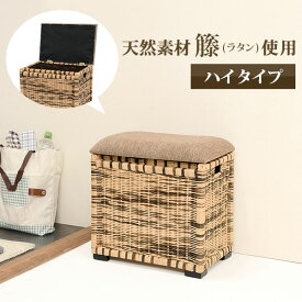 6edf03aaa9 送料無料 ロータイプ スツール ボックス ボックススツール 収納 籐椅子 収納スツール 幅35×奥行