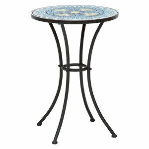 送料無料 ガーデン テーブル 円形 丸型 ガーデンテーブル おしゃれ 雨ざらし 屋外 スチール アイアン タイル テラス カフェ オープンカフェ テーブル ラウンドテーブル アウトドア レジャー