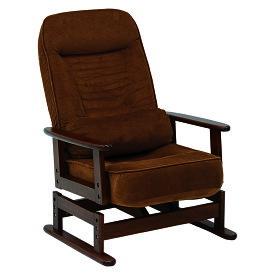 送料無料 高座椅子 低反発 折りたたみ クッション付リクライニング高座椅子 コンパクト ブラウン 肘掛け 和室 チェア 一人掛け 1人掛け イス 椅子 フロアチェア フロアソファ チェア 一人用 リラックス LZ-4742BR