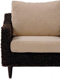 送料無料 ソファー 本体のみ ソファ 2人掛け 2人がけ リゾート ソファ 2人用 ソファチェア 肘付き 脚付き 椅子 いす イス バリ おしゃれ ホテル アバカ 茶色 ブラウン RL-1430BR-2C