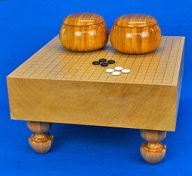 囲碁セット 本桂4寸足付碁盤セット(蛤碁石28号・欅碁笥特大)