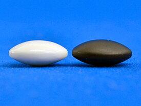 硬質ガラス碁石(1粒売り) 新生・竹(厚み約9mm)