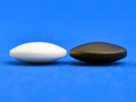 硬質ガラス碁石 新生・梅(厚み約8mm)