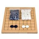 囲碁セット 木製9路盤セット(プラ碁石椿)