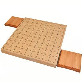 将棋盤 新桂1寸ハギ卓上将棋盤(駒台付き)