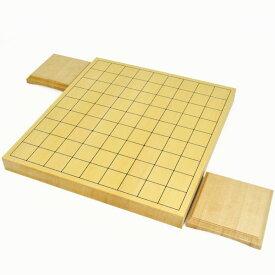 将棋盤 ヒバ1寸ハギ卓上将棋盤(駒台付き)
