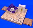 将棋セット 新桂1寸卓上将棋盤セット(木製将棋駒楓上彫駒)