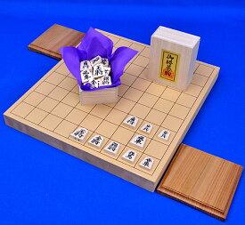 木製将棋セット 新桂1寸卓上将棋盤セット(将棋駒白椿上彫駒)
