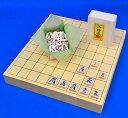 将棋セット ヒバ1寸5分卓上将棋盤セット(木製将棋駒樺材優良押し駒)