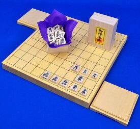 木製将棋 セット ヒバ1寸卓上将棋盤セット(将棋駒白椿上彫駒)