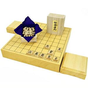 木製将棋セット ヒバ2寸卓上将棋盤セット(将棋駒黄楊上彫駒)