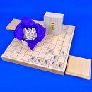 木製将棋セット桧1寸卓上将棋盤セット(木製将棋駒楓上彫駒)