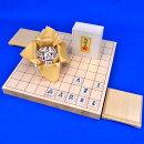 木製将棋セット国産桧1寸卓上将棋盤セット(将棋駒白椿上彫駒)