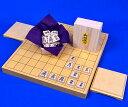 将棋セット 新かや1寸卓上将棋盤セット(木製将棋駒楓上彫駒)