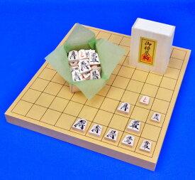 木製将棋セット 新かや1寸卓上将棋盤セット(木製将棋駒樺材優良押し駒)