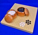 囲碁セットヒバ1寸5分卓上碁盤セット(蛤碁石28号・欅碁笥大)