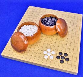 囲碁セット ヒバ1寸卓上碁盤セット(蛤碁石28号・桜碁笥大)