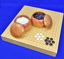 囲碁セットヒバ2寸卓上碁盤セット(蛤碁石28号・欅碁笥大)