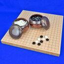 囲碁セット桧1寸卓上碁盤セット(ガラス碁石梅・栗碁笥大)
