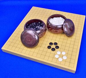 囲碁セット 新かや1寸卓上碁盤セット(蛤碁石25号・栗碁笥大)